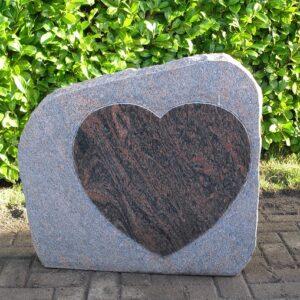 grafsteen met hart
