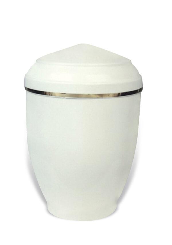 witte sier urn 24 van metaal