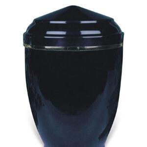 Donkerblauwe urn 25 van metaal