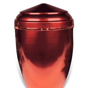 Rode sier urn 26 van metaal
