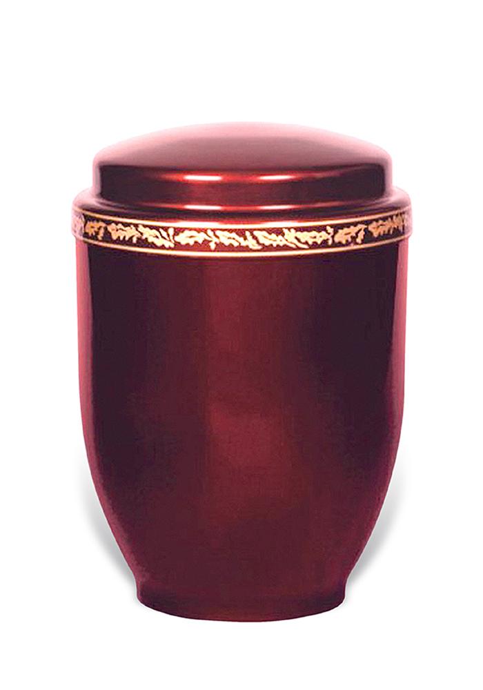 donker rode sier urn van metaal 5