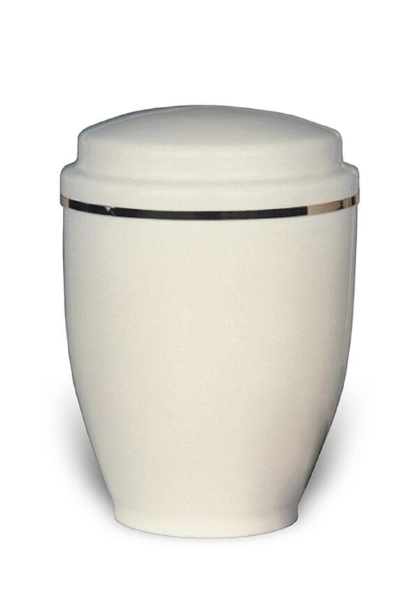 witte sier urn 34 van metaal