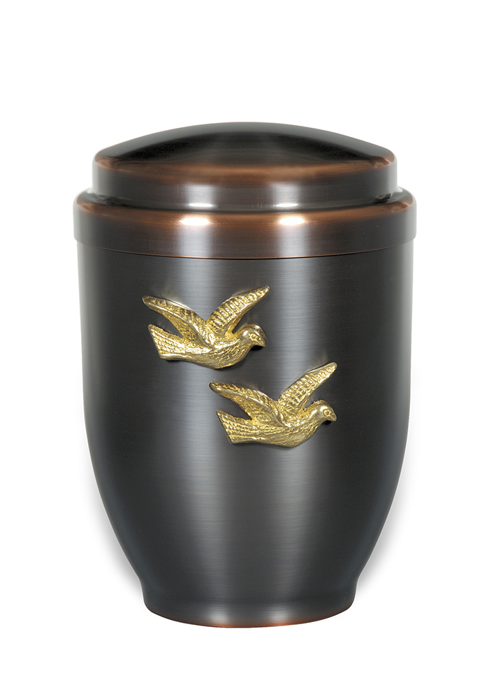 sier urn 40 met vogels