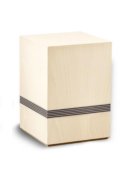 houten urn wit, urn 51