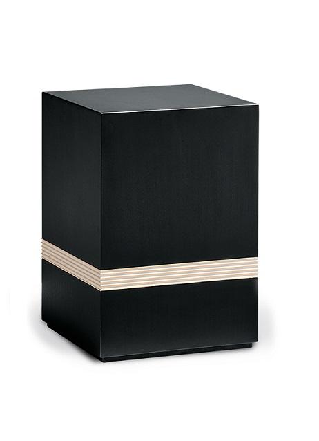 houten urn zwart