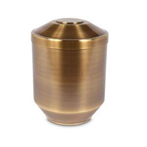 koperkleurige messing urn