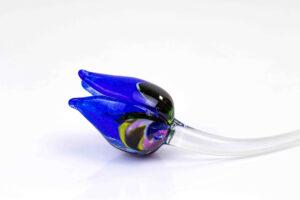 glazen tulp MC blauw