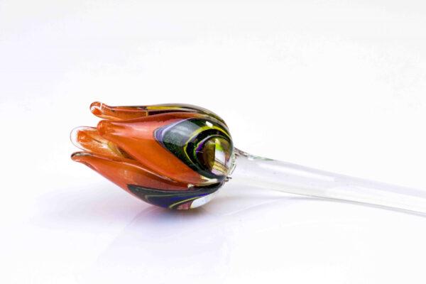 glazen tulp mc oranje