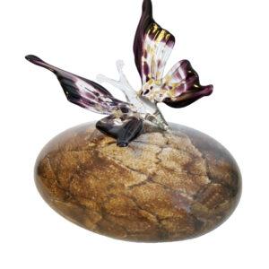 urn glas vlinder 150 ml 16x10x14 cm